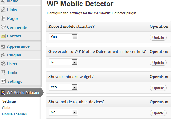 WP Mobile Detector Vulnerability