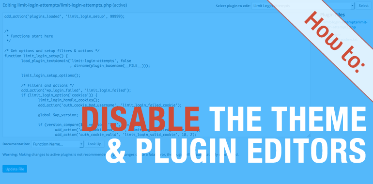How to Disable Theme and Plugin Editors in WordPress